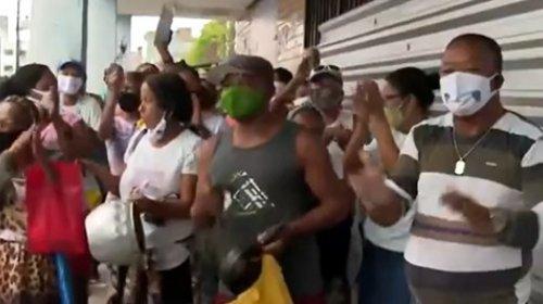 [Marisqueiros e pescadores fazem protesto e pedem retorno dos trens no subúrbio]